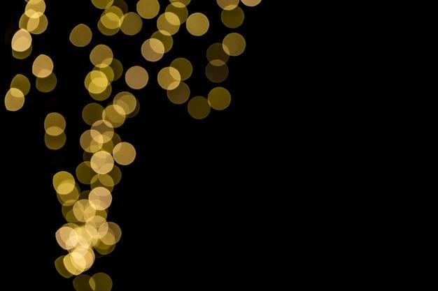 Close up de luzes bokeh com espaço de cópia