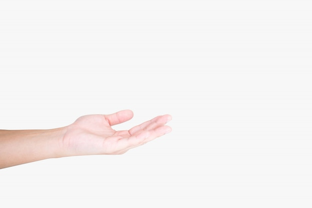 Close-up de mãos jovens isoladas