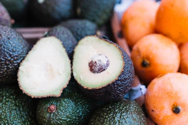 Close-up, de, metade, abacate