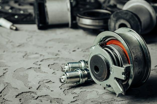 Close-up de monte de peças de automóveis