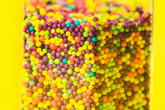 Close-up, de, multi colorido, doce, açúcar, bolas