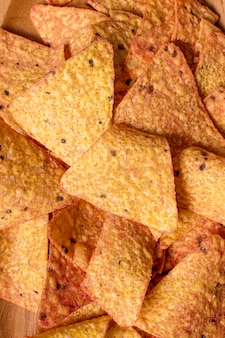 Close-up de nacho chips