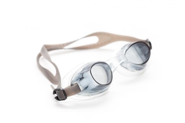 Close up de óculos de natação