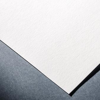 Close-up de papel branco texturizado