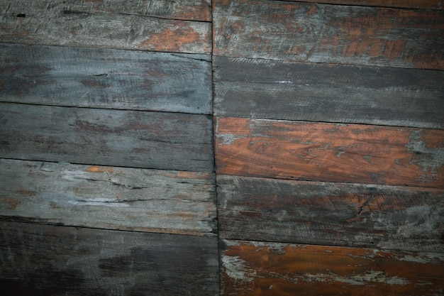 Close up de parede feita de pranchas de madeira