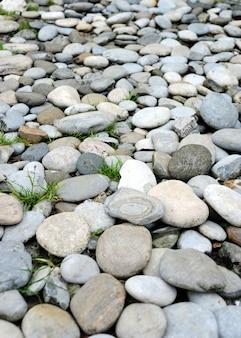 Close-up de pedra praia de seixo