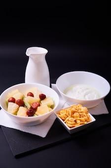 Close up de pequeno-almoço saudável