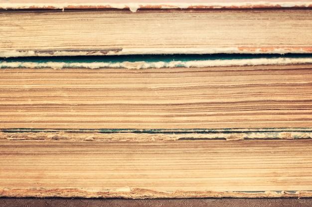 Close-up, de, pilha, de, antigas, vindima, livros