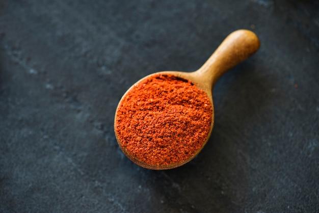 Close up de pimenta em pó