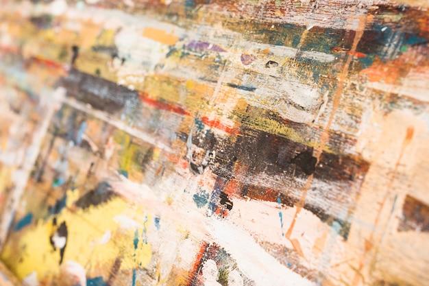 Close-up, de, pintado, antigas, madeira, superfície