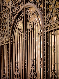 Close-up, de, portão ferro, em, frança paris