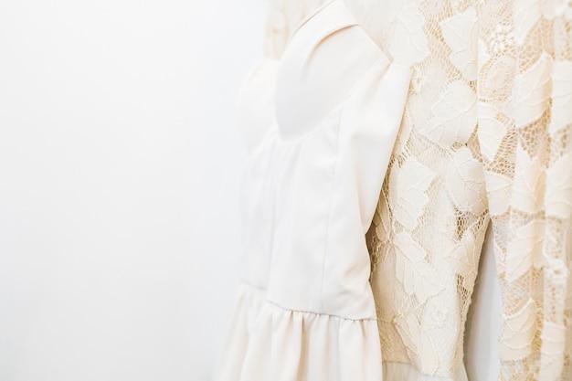 Close-up, de, roupas desenhadas, em, loja