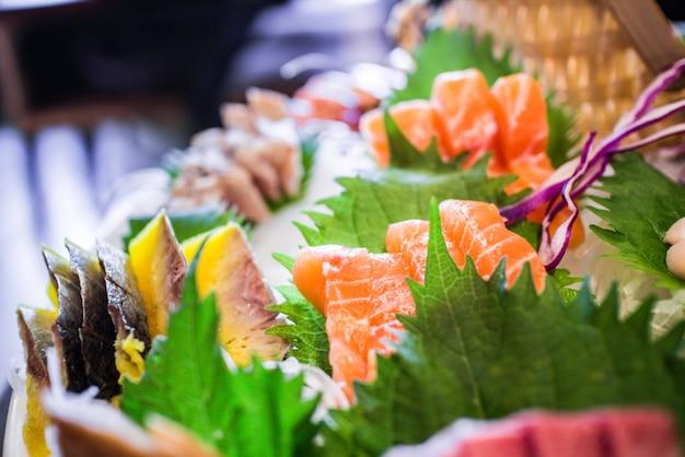 Close-up de salmões deliciosos