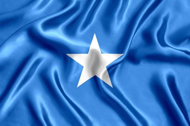 Close-up de seda da bandeira da somália