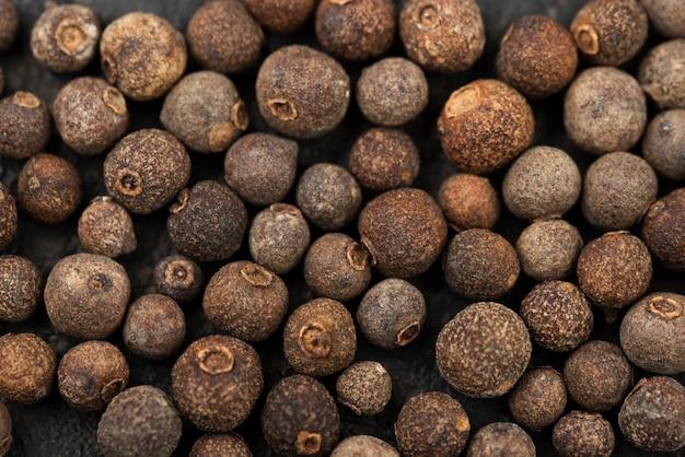 Close-up de sementes marrons