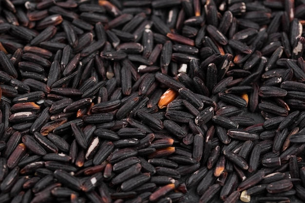 Close-up de sementes pretas torradas