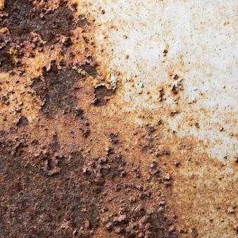 Close-up de superfície metálica enferrujada velha