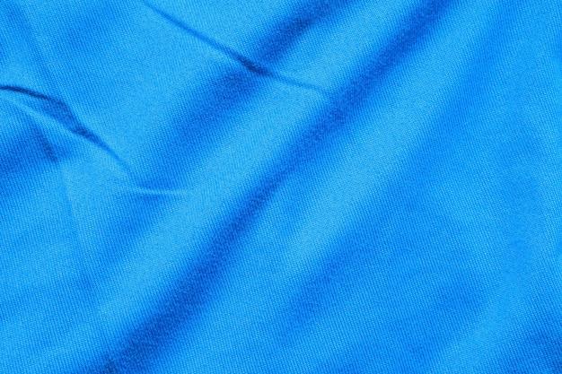 Close up de textura de tecido azul