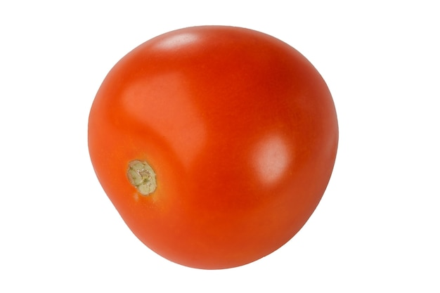 Close-up de tomate isolado em fundo branco