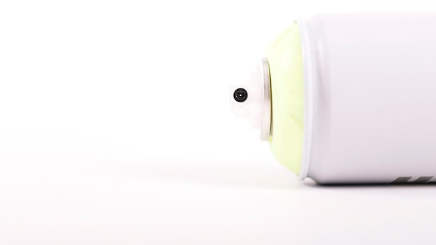 Close-up, de, um, branca, aerossol, lata, bocal