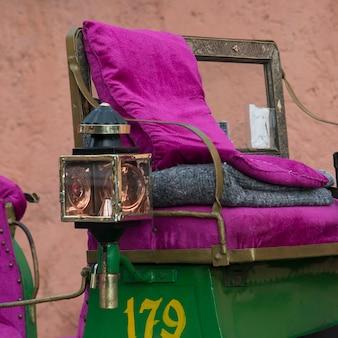 Close-up, de, um, carruagem puxada a cavalo, marrakesh, marrocos