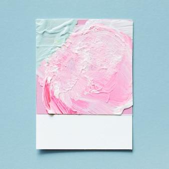 Close up de um cartão artesanal