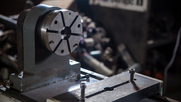 Close-up de um equipamento de metal