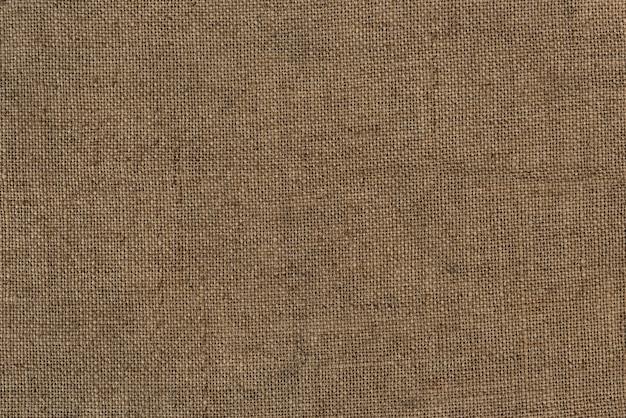 Close up de um fundo texturizado de saco de juta de estopa