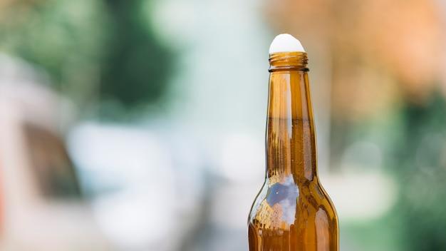 Close-up, de, um, garrafa cerveja
