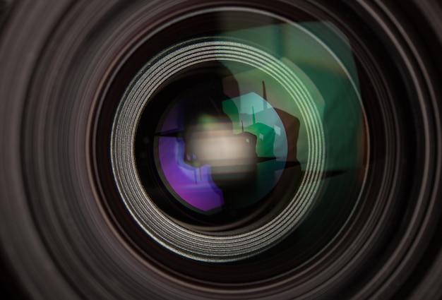 Close-up, de, um, lente fotográfica
