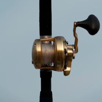 Close-up, de, um, pesca, carretel, sayulita, nayarit, méxico