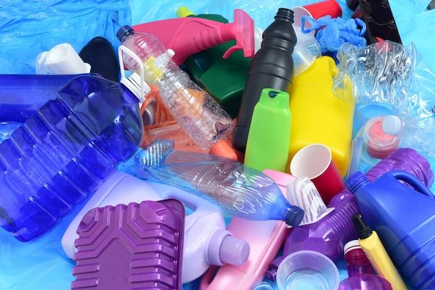 Close up de um plástico reciclado