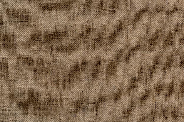 Close-up de um saco de juta de serapilheira texturizada fundo