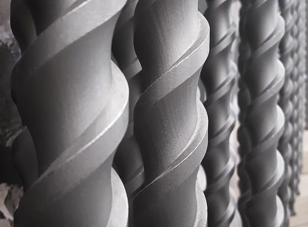 Close-up de uma broca de metal definir plano de fundo.