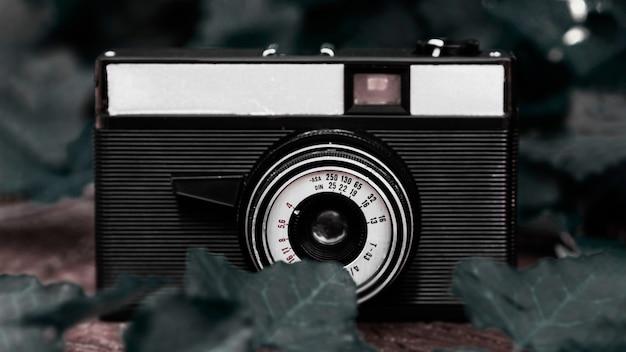Close-up de uma câmera fotográfica vintage