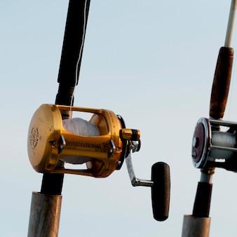 Close-up, de, vara de pesca, sayulita, nayarit, méxico