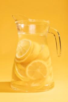 Close-up delicioso pote de limonada