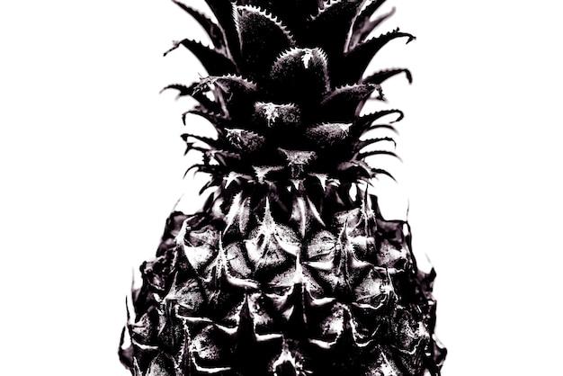 Close-up do abacaxi. preto e branco