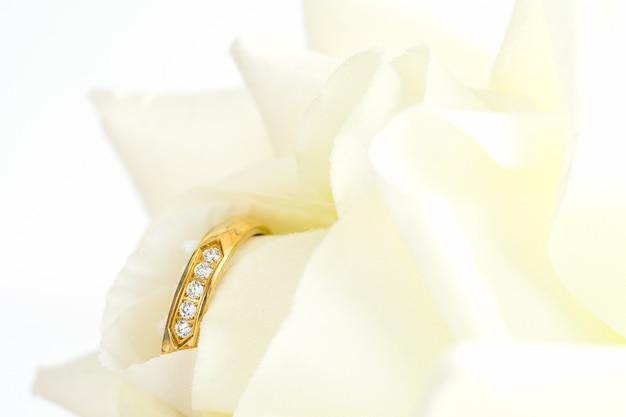 Close-up do anel de casamento