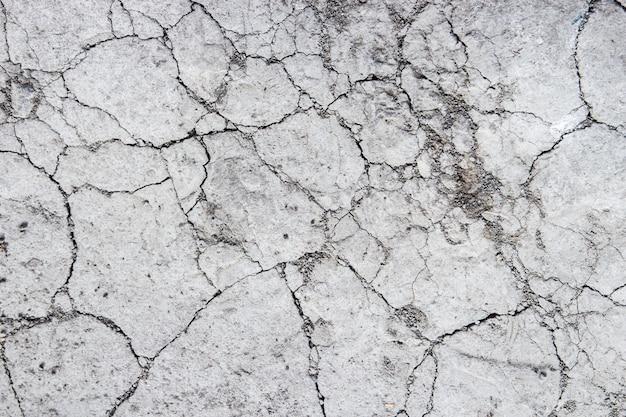 Close-up do chão rachado, textura do solo seco para o fundo