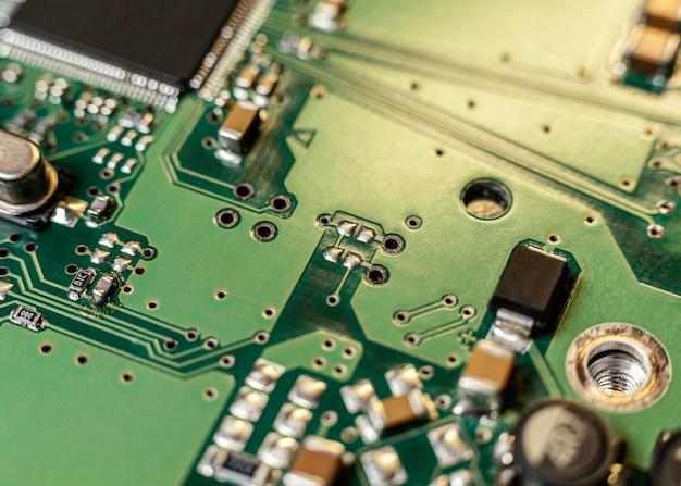 Close-up do componente de hardware