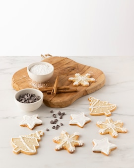 Close-up do conceito de biscoitos deliciosos