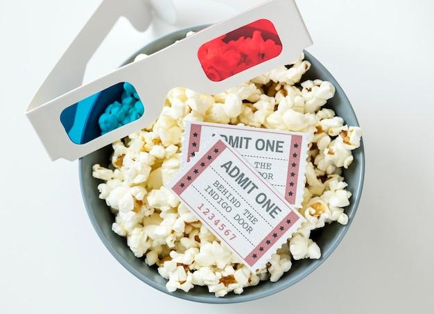 Close up do conceito de entretenimento cinema e filme