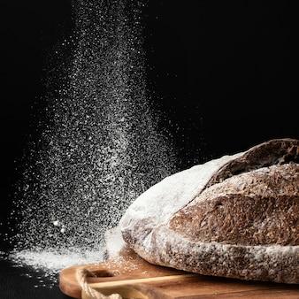 Close-up do conceito de pão delicioso
