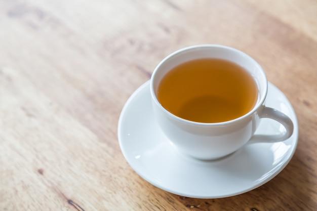 Close-up do copo de chá