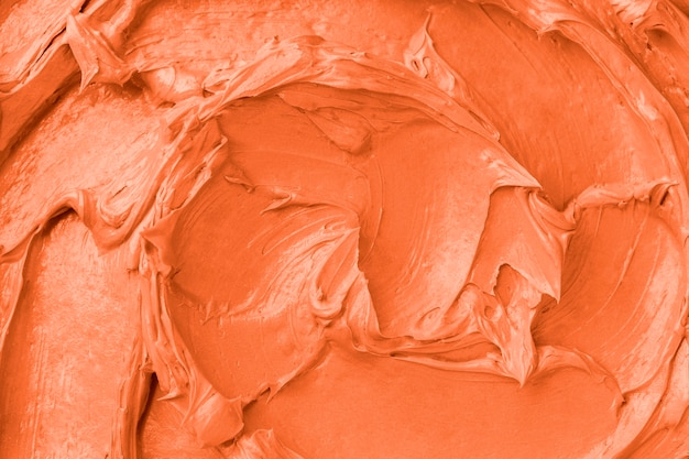 Close-up do fundo com textura de glacê laranja