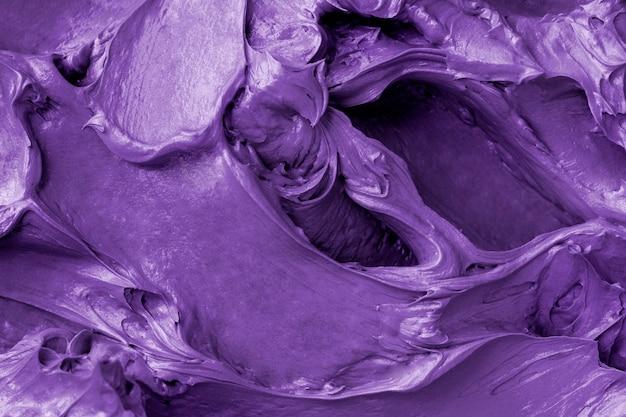 Close-up do fundo com textura de glacê roxa