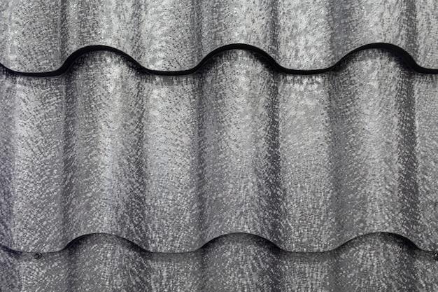 Close-up do material de acabamento do telhado