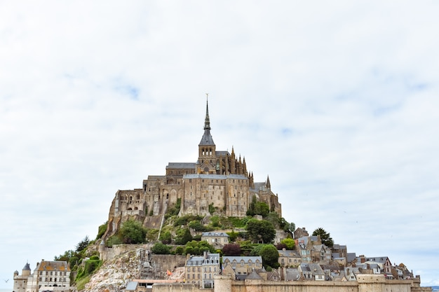 Close-up do mont saint michel