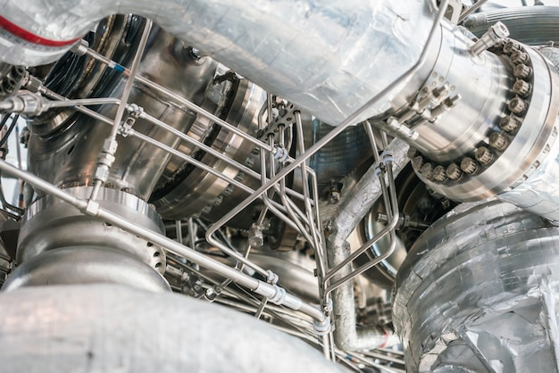 Close up do motor de espaço